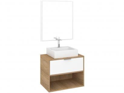 Armário de Banheiro Aéreo com Espelho 1 Gaveta - Fellicci GB21 Camberra