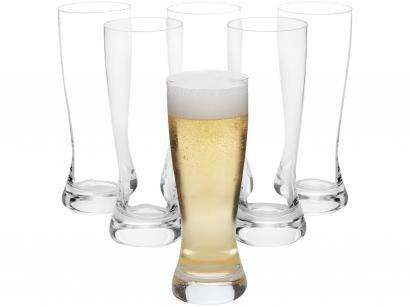 Jogo de Copos de Cristal para Cerveja 600ml - 6 Peças Oxford Catarina Classic 7000