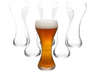 Jogo de Copos de Cristal para Cerveja 600ml - 6 Peças Oxford Weizen Classic 7000
