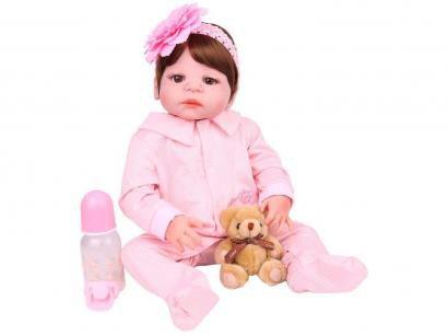 Boneca Reborn Laura Baby Pietra com Acessórios - NPK Doll