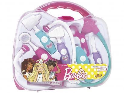 Maleta Médica Barbie Kit Fun 8 Peças
