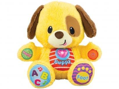 Pelúcia Cãozinho Aprenda Comigo 26cm - Emite Som Winfun