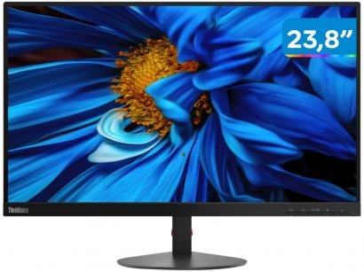 "Monitor para PC Lenovo ThinkVision 61CAKBR1BR - 23,8"" LED Widescreen Full HD HDMI VGA"