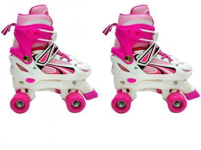 Patins 4 Rodas Infantil Xplast 4262 Pink