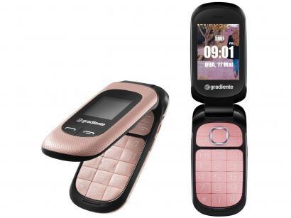 Celular Gradiente Neo S 105R Flip Dual Chip 32MB - Rádio FM MP3 Desbloqueado