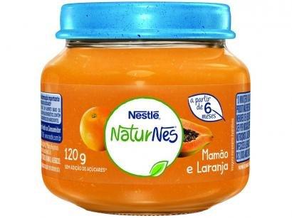Papinha NaturNes Mamão e Laranja 120g - A Partir de 6 Meses