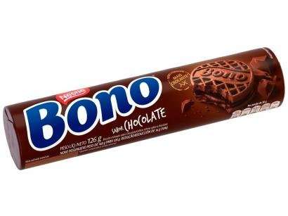 Biscoito Recheado Chocolate Bono 126g