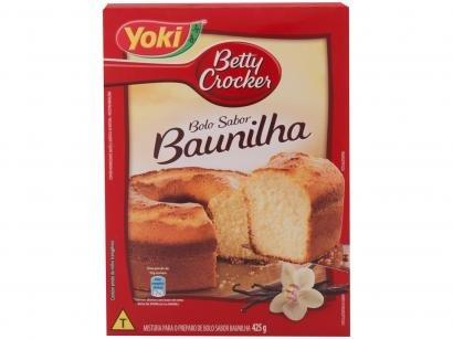 Mistura para Bolo Betty Crocker Baunilha - Tradicional 425g