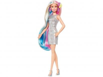Boneca Barbie Penteados de Fantasia Unicórnio e - Sereia com Acessórios Mattel