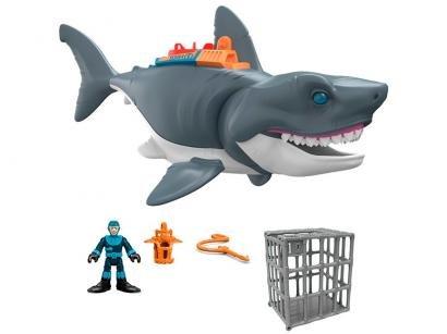 Imaginext Tubarão Mega Mordida - com Acessórios Fisher-Price