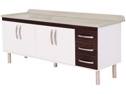 Balcão de Cozinha para Pia A. J. Rorato 4 Portas - 540640