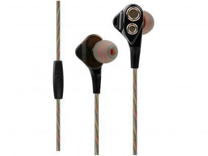 Fone de Ouvido OEX Game FN500 Quad-X - Intra-auricular com Microfone Preto