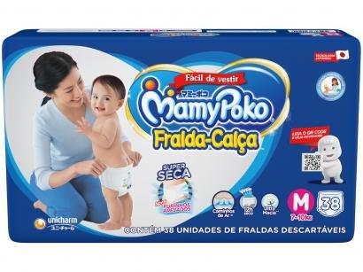 Fralda MamyPoko Jumbo Calça Tam. M - 7 a 10kg 38 Unidades