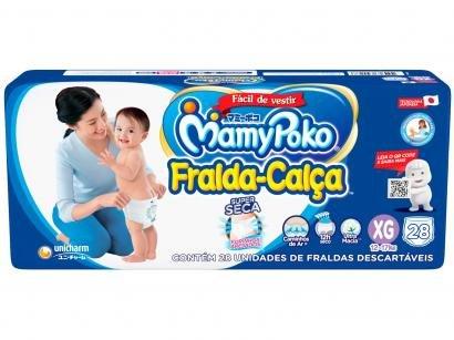 Fralda MamyPoko Jumbo Calça Tam. XG - 12 a 17kg 28 Unidades