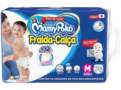 Fralda MamyPoko Super Calça Tam. M - 6 a 10kg 76 Unidades