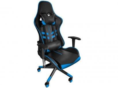 Cadeira Gamer Nell Reclinável Preto e Azul - GAM-AZ1