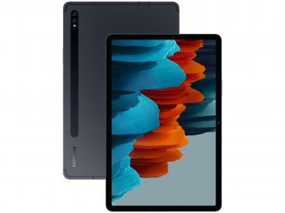 "Tablet Samsung Galaxy Tab S7 com Caneta 11"" 4G - Wi-Fi 256GB Android Octa-Core Câm. Dupla + Selfie"