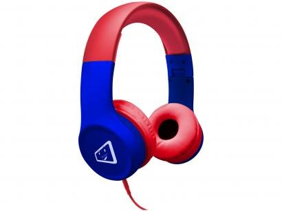 Headphone Infantil ELG Safe Kids Spider - Vermelho e Azul
