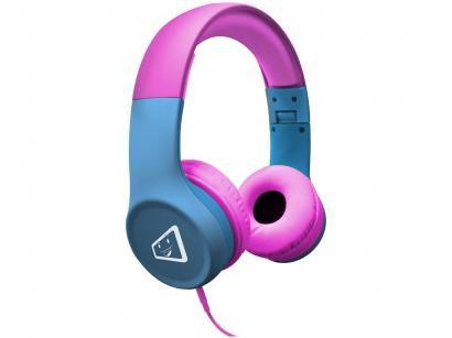 Headphone Infantil ELG Safe Kids Melody - Rosa e Azul