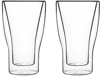 Copo de Vidro Transparente 340ml - Luigi Bormioli Latte Macchiato