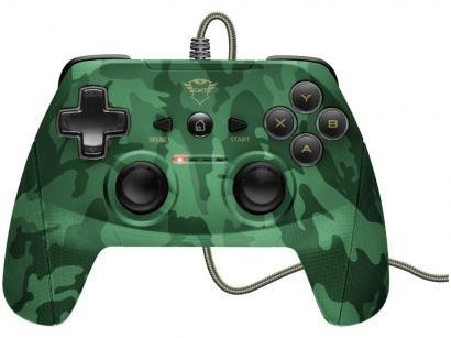 Controle para PC e PS3 com Fio Yula GXT 540C - Trust Verde