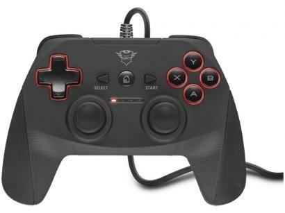 Controle para PC e PS3 com Fio Yula GXT 540 - Trust Preto