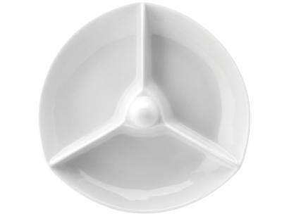 Petisqueira Porcelana Redonda Schmidt - 3 Divisões