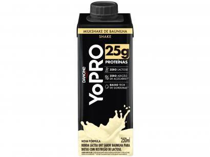 Bebida Láctea YoPRO Milkshake de Baunilha - Sem Lactose Zero Açúcar 250ml