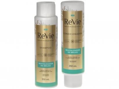 Kit Shampoo e Condicionador Revie - Revitalizador de Brilho 350ml Cada