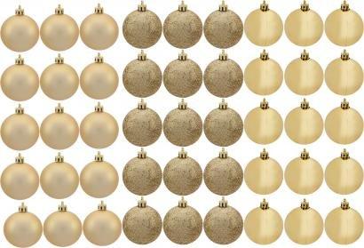Kit Bola de Natal Dourada NATAL074 Casambiente - 4,5cm 45 Unidades