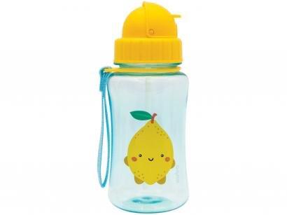 Garrafa Infantil 400ml com Canudo Buba - Frutti Limão