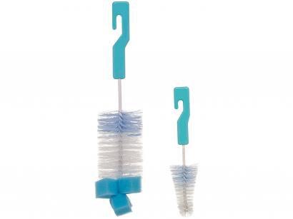 Kit Escovas de Mamadeira Buba Azul - 2 Peças