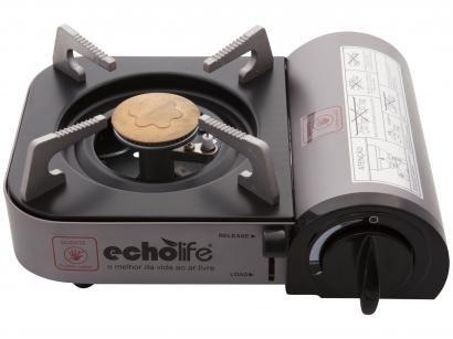 Fogareiro Camping a Gás Echolife Alu Compact - Acendedor Automático