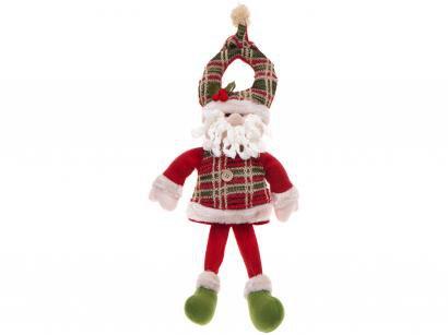 Boneco Papai Noel de Pelúcia 53cm Casambiente - NATAL141