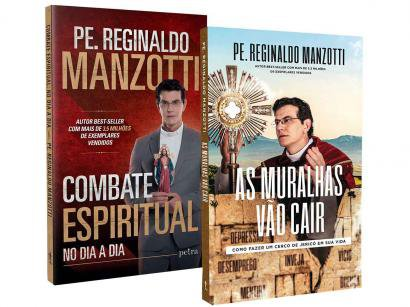 Kit Livros Combate Espiritual no Dia a Dia e - As Muralhas Vão Cair Reginaldo Manzotti