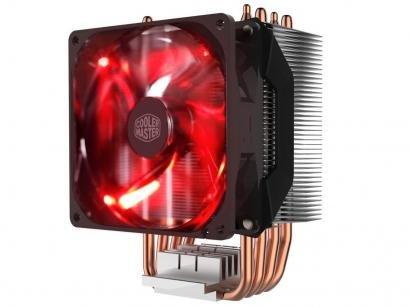 Cooler para Processador Intel AMD LED Vermelho - Cooler Master Hyper H410R