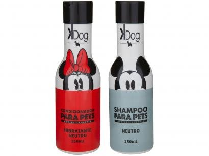 Kit Shampoo e Condicionador Cachorro e Gato - Neutro K-Dog Disney 250ml