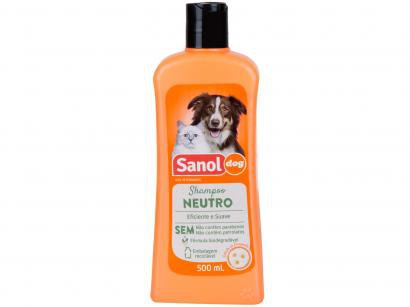 Shampoo Cachorro e Gato Neutro - Sanol Dog 500ml