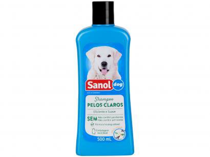 Shampoo Cachorro e Gato Pelos Claros - Sanol Dog 500ml