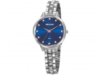 Relógio Feminino Seculus Analógico - 77067L0SVNS3 Prata
