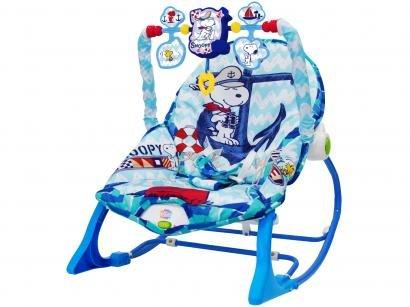 Cadeirinha de Descanso Yes Toys Reclinável - Vibratória com Móbile Snoopy 0 a 7kg