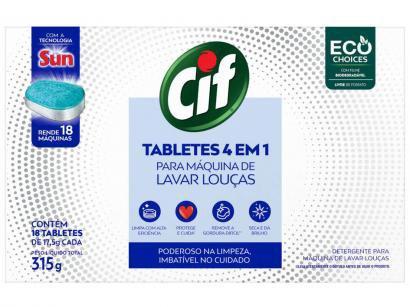 Detergente Tablete Lava-Louças Cif - Tabletes 4 em 1 315g