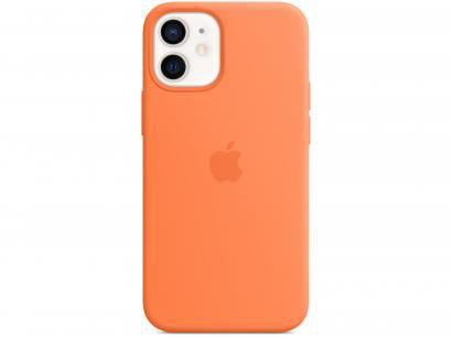 Capa de Silicone com MagSafe Laranja-kinkan - para iPhone 12 Mini Original
