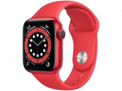 Apple Watch Series 6 40mm (PRODUCT)RED GPS - Pulseira Esportiva (PRODUCT)RED