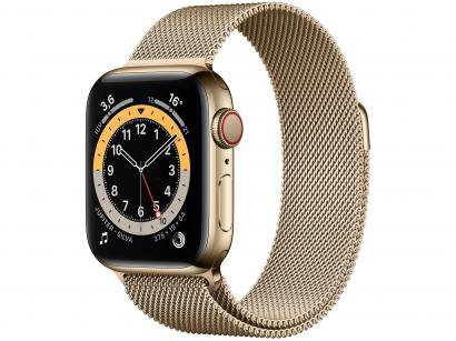 Apple Watch Series 6 40mm Dourada GPS + Cellular - Pulseira Estilo Milanês Dourada
