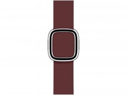 Pulseira Apple Watch Fecho Moderno Couro 40mm - Vermelho Granada Original
