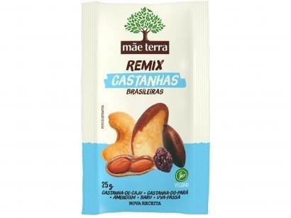 Mix de Castanhas Mãe Terra Remix - Castanhas Brasileiras 25g