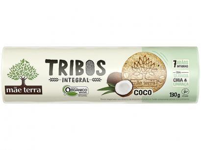 Biscoito Coco Integral Vegano Tribos Mãe Terra - 130g