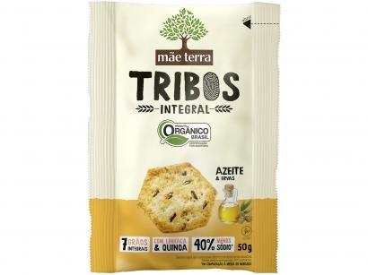 Biscoito Azeite e Ervas Integral Vegano Tribos - Mãe Terra 50g