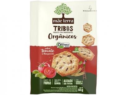 Biscoito Tomate e Manjericão Integral Vegano - Tribos Mãe Terra 50g